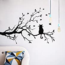 Wall Décor Stickers Cats Black Vinyl Love Decal Lovely Sticker Cat Decoration Ho