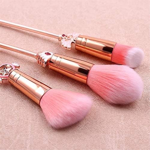ZYC Ensoleillé Belle Fille Sakura pinceaux de Maquillage mis Poudre cosmétique Fondation Fard à paupières Kits de Maquillage Outil en métal pinceaux de Maquillage