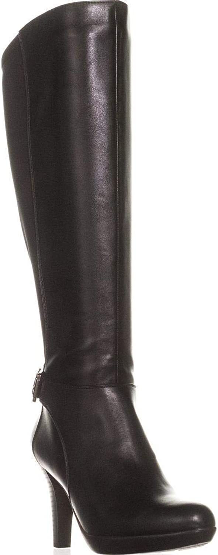 Alfani A35 Vennuss Wide Calf Platform Knee High Boots, Black