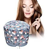 LUCKYFINE 110v Hair Thermal Steamer Treatment SPA Cap Nourishing Care Hat New Beauty Steamer Nourishing Hat, Deep Conditioning Heat Cap