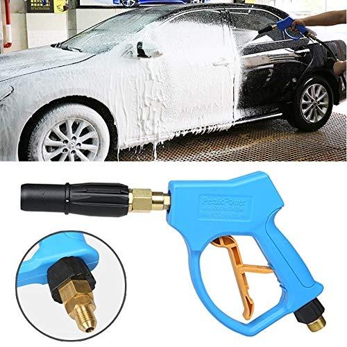 Waterpistool auto druk wasmachine hoge druk korte vaste schuim pistool voor zelfbediening auto wasmachine (buitendraad: 18 X 1.5)