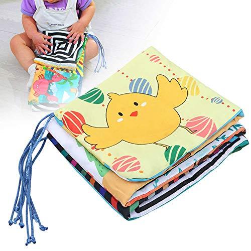 Nannday Baby-Bade-Bücher, Baby-Krippen-Stoff-Buch Niedliche Tier-Lernrassel Verzerrender Spiegel Lernspielzeug, Baby-Jungen-Mädchen(1-1#)