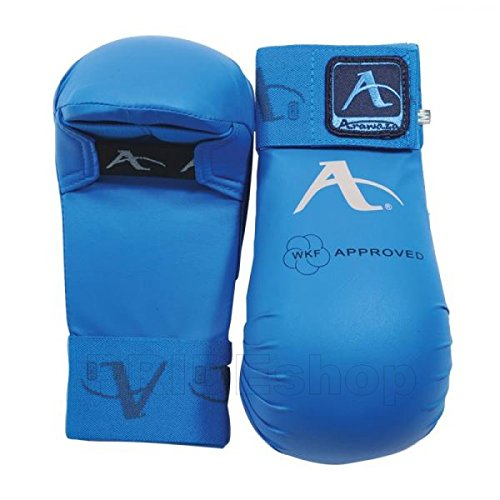 Arawaza WKF Approved Karate Mitts (Blue, Medium)