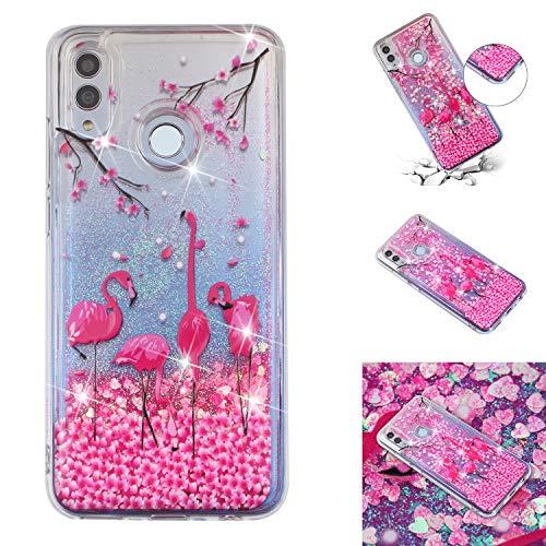 ANCASE - Carcasa con Purpurina para Huawei P30/P30 Lite/P30 Pro, TPU Silicona, Flamingo Rojo, Huawei P30 Pro