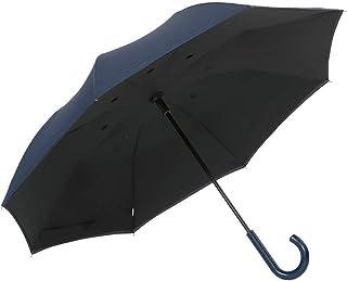 傘と日傘専門店リーベン 長傘 紺 65cm×8本骨 開閉逆転傘 ジャンプ 大判65cm 紺 LIEBEN-0126