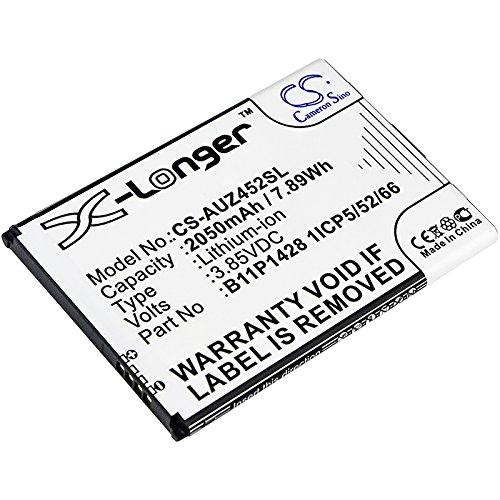 CS-AUZ452SL Batteria 2050mAh compatibile con [ASUS] X009DB, ZB452KG, ZenFone Go 4.5, ZenFone Go ZB450KL, ZenFone Go ZB452KG sostituisce 0B200-01910000, per 0B200-01910200, per B11P1428 1ICP5/52/66