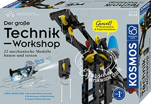 KOSMOS 620851 Der große Technik-Workshop Experimentierkasten für Kinder