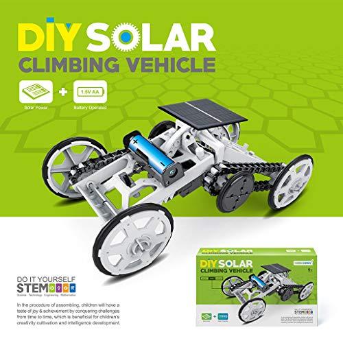 Webla Juguete controlado a distancia Coche eléctrico Tracción en las cuatro ruedas Camiones de bricolaje montados en un automóvil eléctrico solar ensamblado, Plástico