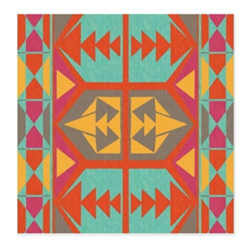 Tapete para secar platos para cocina, tapete de microfibra tribal Neo Native para platos ultra absorbente, almohadilla de secado para encimera, resistente al calor, 71 x 71 cm