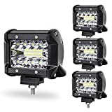 LED ワークライト 作業灯 60W OSRAM製 5400lm 6000K IP67 LED バックライト トラック用品 農業機械 工事現場 駐車場 デッキライト 補助灯 DC9V-32V対応 防水・防塵・耐震 高透過性 1年保証 即納 (4個セット)
