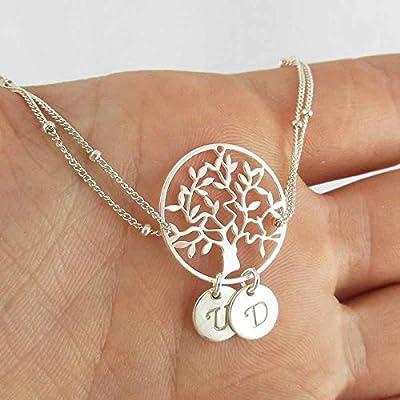 Bracelet arbre de vie argent 2 initiales