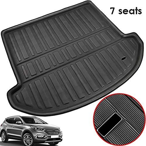 XIANGSHAN Fit For Hyundai Santa Fe 2013-2018 7 Seater Rear Trunk Liner Boot Cargo Mat Tray Floor Carpet Mud Kick Protector Pad 2014 2015