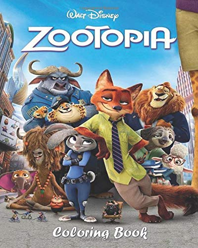 Zootopia Coloring Book: Zootopia Characters Coloring Pages   Unique Illustrations