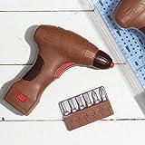 Weibler Confiserie Set Box Acetato con Trapano e Punte in Cioccolato al Latte - 1 x 175 Grammi