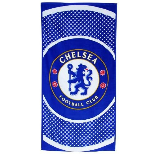 Chelsea FC - Toalla - Diseño circular - Azul / blanco - 70 x 140 cm