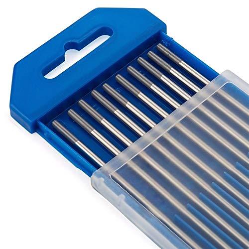 Geeyu ZHaonan-Varillas para soldar Puntas de Agua Gris de Acabado molido WC20 TIG Barras de Soldadura, electrodos de tungsteno 10pcs en un Paquete, para soldar (Diameter : 1.6X150mm, Material : WC20)