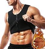 SLIMBELLE® Sauna Gilet de Sudation Homme en Néoprène avec Zipper Débardeur Amincissant Minceur pour la Perte de Poids Body Shaper Sport Musculation