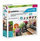 Gardena Micro-Drip System Start Set macetas S/UNICEF, Naranja, Gris, Negro