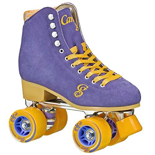 Roller Derby Candi Girl Carlin Women's Roller Skate Periwinkle/Orange Size: 4 Periwinkle/Orange