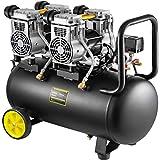 Mophorn Compresor de Aire sin Aceite, 68DB, 50L, Compresor Aire 1960W, Compresor Aire Silencioso 9CFM, Aceite Compresor Aire...