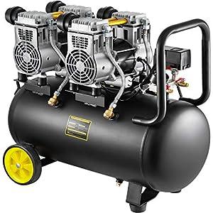 51sy8reVB6L. SS300  - Mophorn Compresor de Aire sin Aceite, 68DB, 50L, Compresor Aire 1960W, Compresor Aire Silencioso 9CFM, Aceite Compresor…