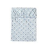 [10mois(ディモワ)-SOULEIADO] ワンタッチシーツのみ プティット・フルール・デ・シャン 花柄 約90cm