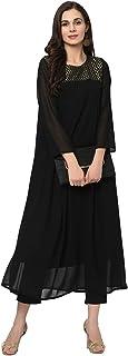 Ziyaa Women's Georgette A-Line Kurta With Pant Set