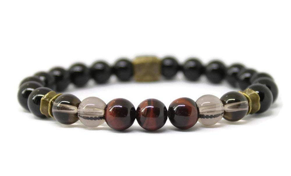 Mens Unisex Gemstone Warrior Wellness Bracelet 40% OFF Cheap Sale Ener Positive for Complete Free Shipping