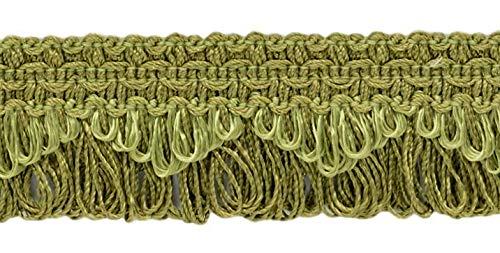 Decorative Celadon Green Scalloped Loop Fringe / Braid, 35mm, 21.9 Meter Package, Style# 9115 Color: L26 (G6) (72 Ft / 24 Yards)