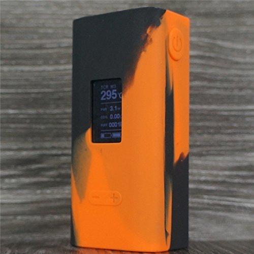 Silicone Case for JOYETECH Cuboid 150w TC Sleeve Skin Cover Wrap (Orange/Black)
