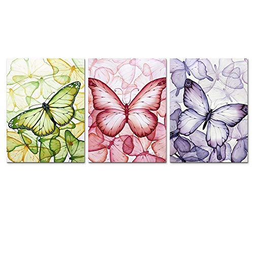 FBMSTER Carteles e Impresiones Colorful Butterfly Abstract Wall Art HD Cuadro Impreso en Lienzo Modern Home Wall Decor Art-40x60 cm / 15.7'x 23.6' Sin Marco