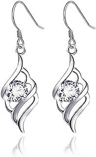 MiniJewelry Dangle Earrings Drop Earrings Tassel Earrings Sterling Silver Dangle Earrings for Women Cubic Zirconia