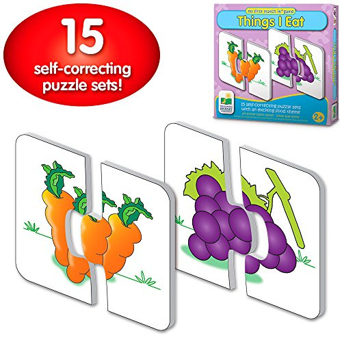 The Learning Journey: My First Match It - Things I Eat - 15 Self-Correcting Food Themed Image Matching Puzzles