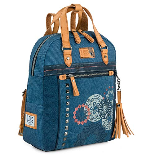Lois - Women's Casual Style Backpack with Double Handle and Adjustable Back Straps, Ideal for Daily Use 310524, blue (Blue) - 310524