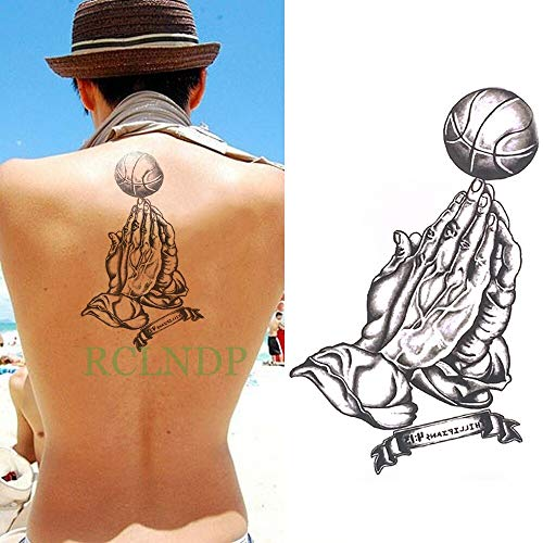 JXAA wasserdichte Tattoo Aufkleber Blume Musik Note Kopfhörer Tattoo Tattoo Große Größe Tattoo Mädchen Frau Mann Transparent