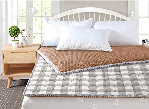 Japanese Futon Tatami Mattress Pad Rattan Thin Double Use Sleeping Mattress Folding Student Dorm Mattress Soft Comfortable Sleeping Mattress J 120x190cm (47x75inch)