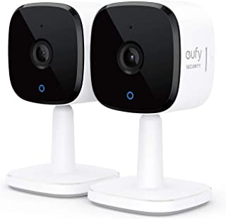 eufy security 2K Indoor Cam 2-Cam Kit, Plug-In Security Indoor Camera with Wi-Fi, IP Camera, Human and Pet AI, Works with ...