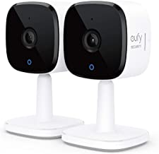eufy Security Solo IndoorCam C24 2-Cam Kit, 2K Security Indoor Camera, Plug-in Camera with Wi-Fi, Human and Pet AI, Works ...