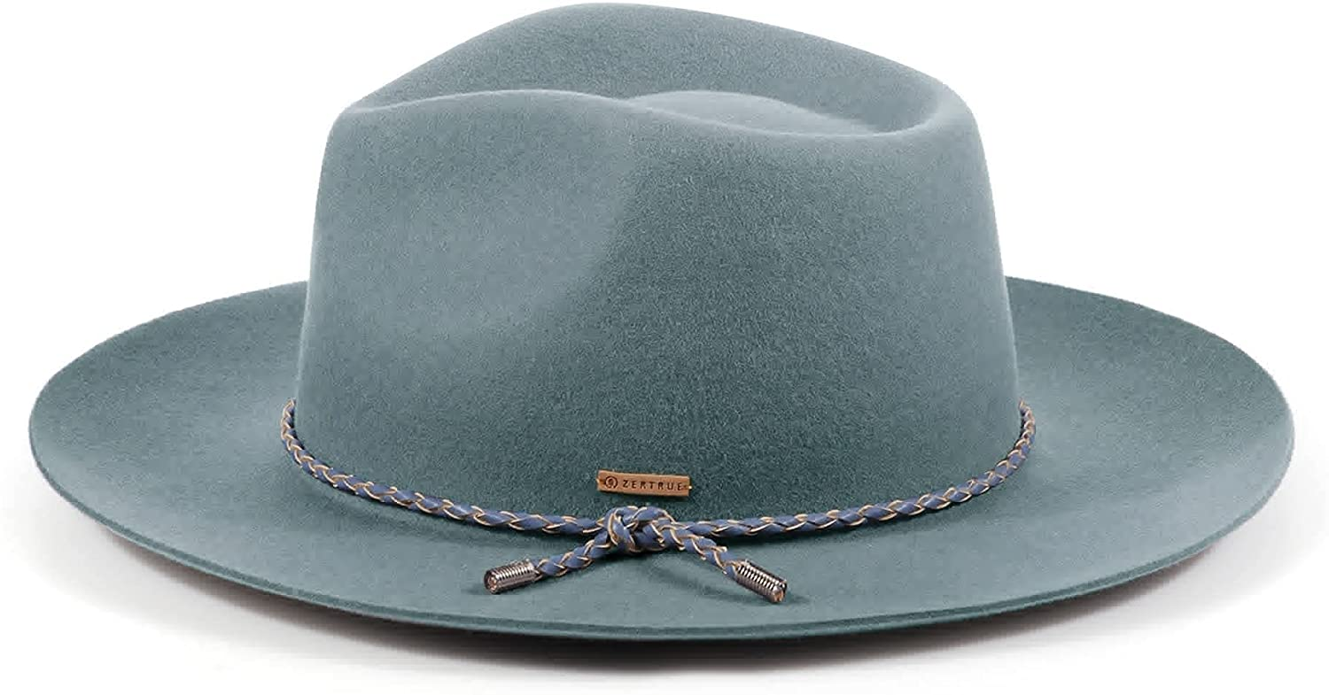 Classic Fedora Hat 100% Sales of SALE items from new works Wool Wide Felt Brim Panama Over item handling Retro