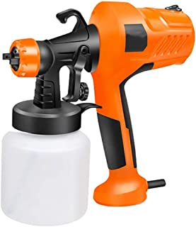 JJLL Handspritzpistole Lackierer, Universal Sprayer Elektro-Spritzpistole mit 3 Strahlarten, Zaun Sprayer, einstellbares Ventil, Maler-, Lackierer, Lackieranlagen, leicht, einfach Sprühen 450W