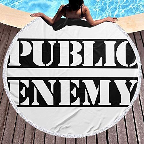 Public En-emy - Toalla de playa de microfibra para viajes, grande, a prueba de arena, secado rápido, ligera, toalla de viaje
