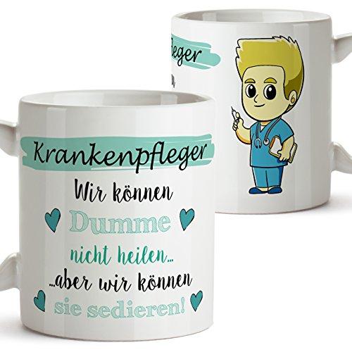 Mugffins Kaffeetassen von Berufen - Geschenk für Krankenpfleger - Der Beste Krankenpfleger der Welt - 350 ml - Schöne und lustige Tassen mit Sprüchen, zu verschenken