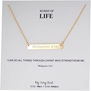 Best word necklace gold Reviews