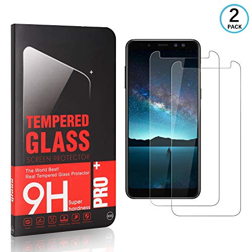 FCLTech Displayschutzfolie für Galaxy A8 2018, HD Klar 9H Härtegrad Gehärtetes Glas Panzerglasfolie Displayschutzfolie kompatibel mit Samsung Galaxy A8 2018, 2 Stück