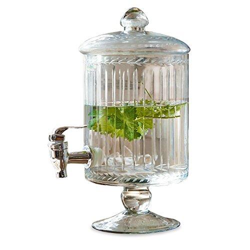 Loberon Getränkespender Makiya, Glas/Kunststoff, H/B/T ca. 33/22 / 17 cm, klar, klar