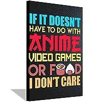 アニメビデオゲーム食品キャンバス絵画HD印刷キャンバスアートキャンバス壁アート装飾絵画アートワーク油絵壁アートポスターとプリント取り付けリビングルーム寝室廊下寝室