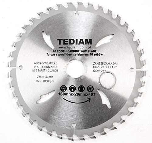 Hoja de sierra circular para madera (160 mm, 160 x 20 mm, 40 dientes)