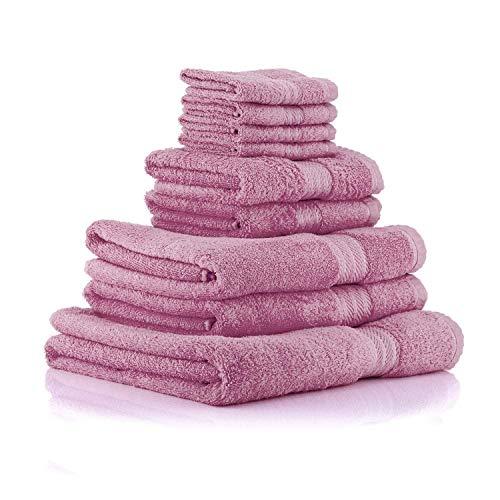 Restmor Knightsbridge Set Completo di Asciugamani 100% Cotone Egiziano Morbidi e Resistenti - Mauve