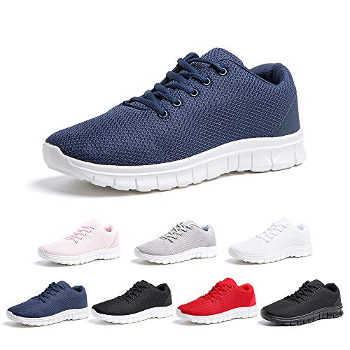 Hitmars Sneakers Herren Turnschuhe Laufschuhe Sportschuhe Gym Straßenlaufschuhe Outdoor Schuhe Lowtop Atmungsaktive Freizeitschuhe Bequem Blau Größe 41
