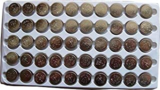 New 50 X AG13 LR44 357 A76 Button Cell Battery in Tray FBA
